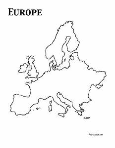 Europe Outline Map Graphic Organizer For 4th