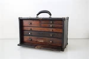 Antique Wooden Tool Box Chest