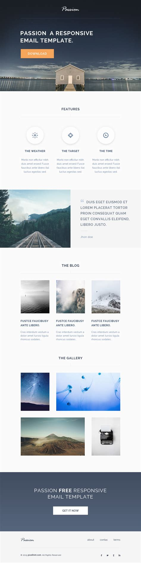 free responsive email templates html responsive email template