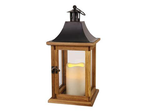 lanterne d ext 233 rieur bois bougie led h35cm best season