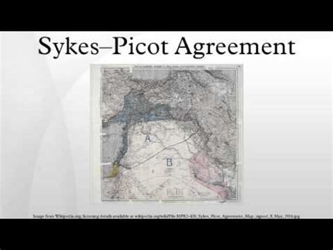 sykes picot agreement youtube