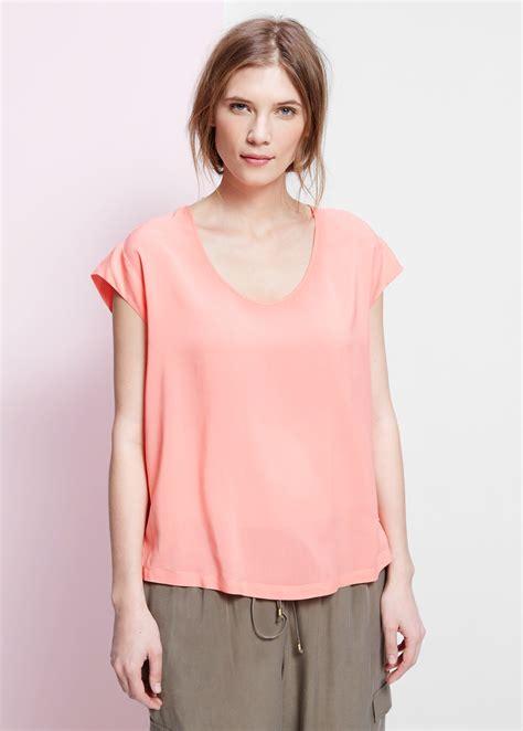 sleeve blouse lyst violeta by mango cap sleeve blouse in pink