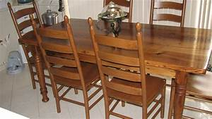 Wormy Chestnut Table and Chairs - Reclaimed Wood