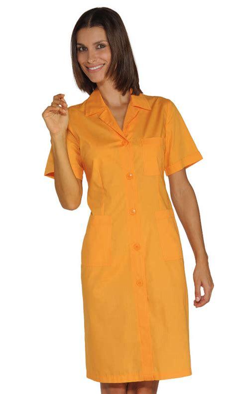 blouse de travail femme abricot