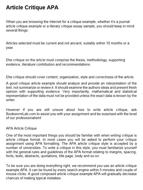 Research paper sample pdf ative article critique example education. Article Critique: How to Critique an Article in APA | EssayMap