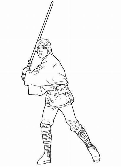 Luke Skywalker Wars Coloring Star Pages Force