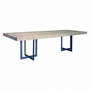 Pied Table Central : table de salle a manger carree avec pied central maison ~ Edinachiropracticcenter.com Idées de Décoration