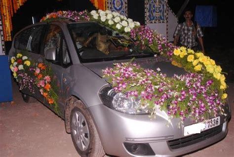 wedding car decoration pictures august  car rental