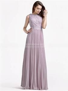 pleated chiffon bridesmaid dress with lace bodice With wedding dresses bridesmaid