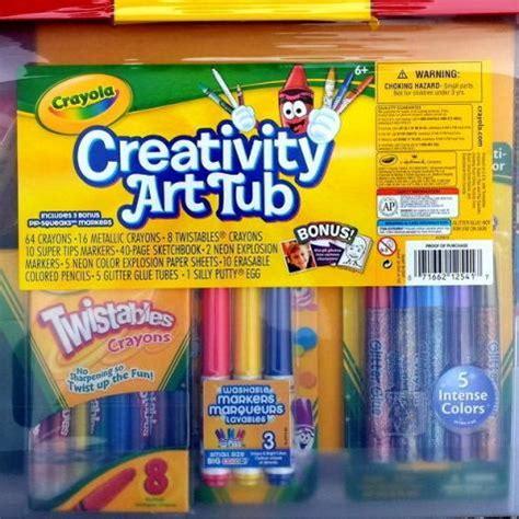 crayola bathtub crayons collection new crayola craft supply set activity kit tub