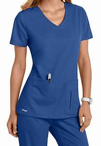 Greys Anatomy 4 Pocket Crossover Top | Scrubs and Beyond
