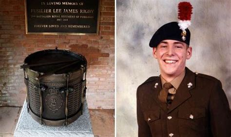 family  friends  lee rigby gather   hometown