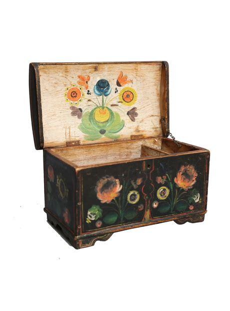 antique rosemaling box faded antiques llc