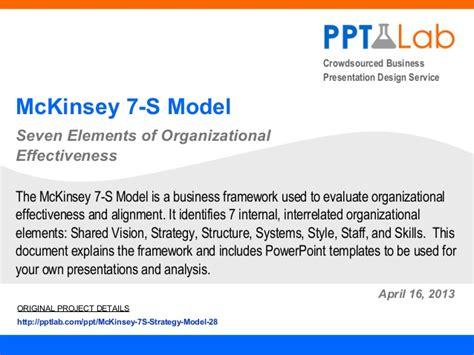 Strategy Document Template Mckinsey Mckinsey 7 S Strategy Model