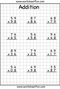 2 Digit Addition With Regrouping  Carrying  5 Worksheets  Free Printable Worksheets