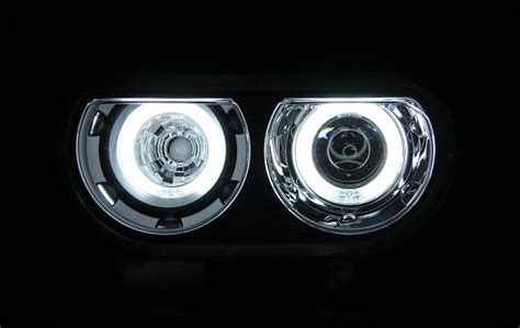 08 13 dodge challenger dual ccfl halo projector hid
