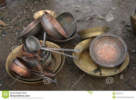 Old Bronze Utensils Stock Photo   Image: 12527170
