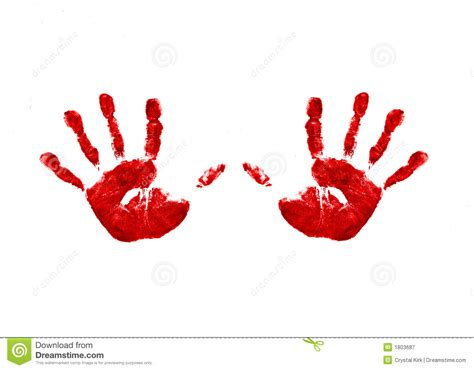 Two Handprints Stock Image. Image Of Bright, Blue, Childs