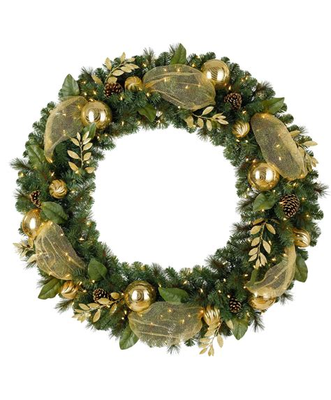golden treasures artificial christmas wreath tree classics