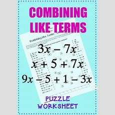 25+ Best Ideas About Combining Like Terms On Pinterest  Algebraic Expressions, Algebra