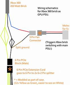 Xbox 360 203 Watt Ac Adapter Mod As A Pc Gpu Aux Power Supply