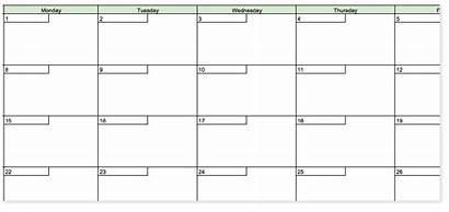 Calendar Template Days Printable Request Organized Coschedule