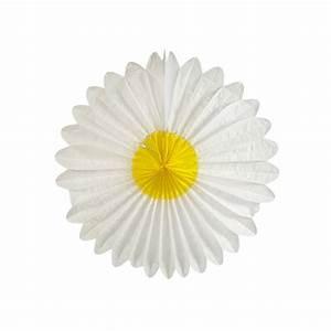 Papier De Soie Blanc : forme en papier de soie 68 cm marguerite jaune blanc x1 ~ Farleysfitness.com Idées de Décoration