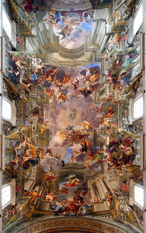 siege de mural picture of the day jaw dropping 3d fresco by andrea pozzo