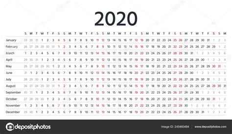 calendario lineal vector organizador anual calendario