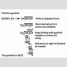 Numbers  Dividing Decimals Examples