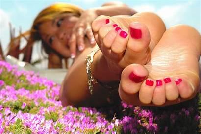 Feet Wallpapers Toes Pink Desktop Soles Barefoot