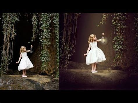 composite child fine art speed edit enchanted shoot