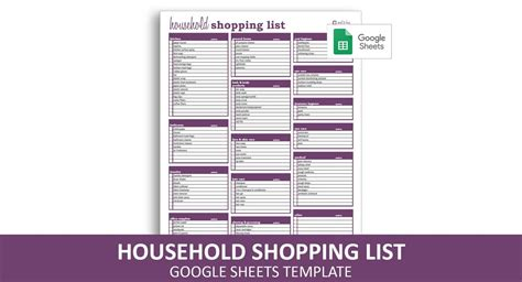 household shopping list google sheets template savvy