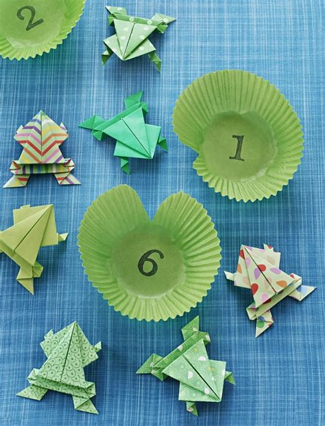 jumping origami frog parents