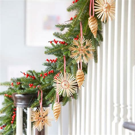 christmas pine decorations cool stair decor with pine for christmas interior design ideas