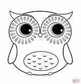 Coloring Owl Cartoon Printable Drawing Paper sketch template