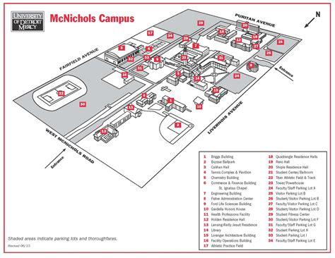 University Of Detroit Mercy Campus Map Poisk Po Kartinkam Red