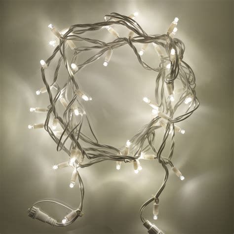 50 led warm white connectable string lights 5m white cable