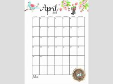 Free April 2018 Desk Calendar To Print Calendar 2018