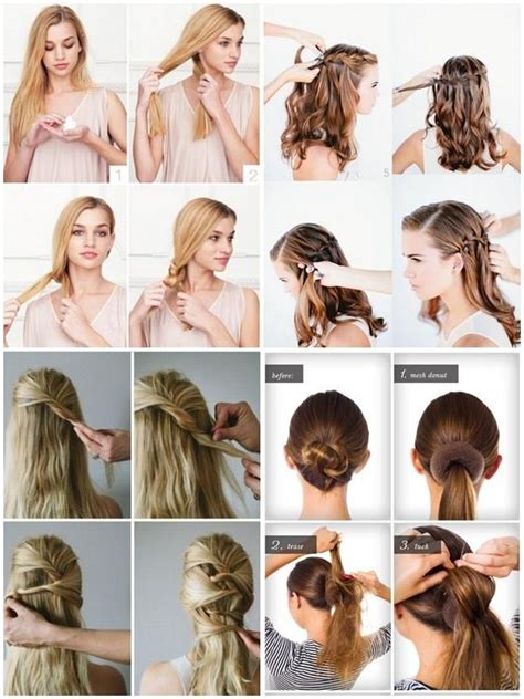 hairstyles step  step images  pinterest hair