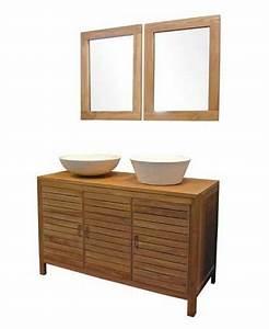Meuble De Salle Bain Pas Cher : meuble salle de bain en teck pas cher ~ Teatrodelosmanantiales.com Idées de Décoration
