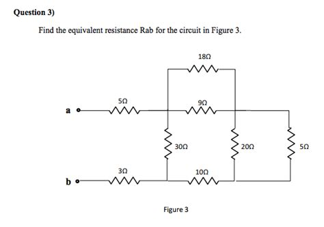 Solved Find The Equivalent Resistance Rab For Circuit