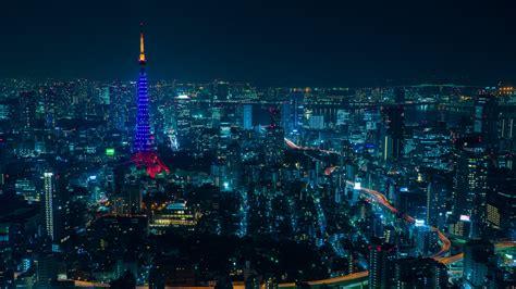wallpaper  tokyo night city