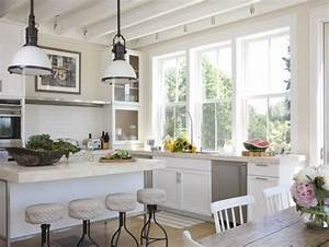 modelos de ventanas modernas With kitchen colors with white cabinets with big beach wall art