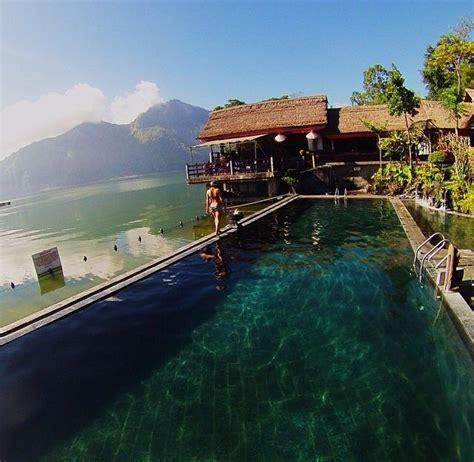 natural hot springs mt batur bali indo bali