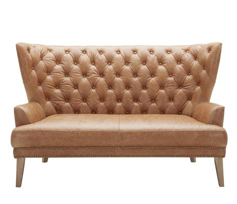 Settee Leather by Evolution Grandin Tufted Leather Settee Belfort