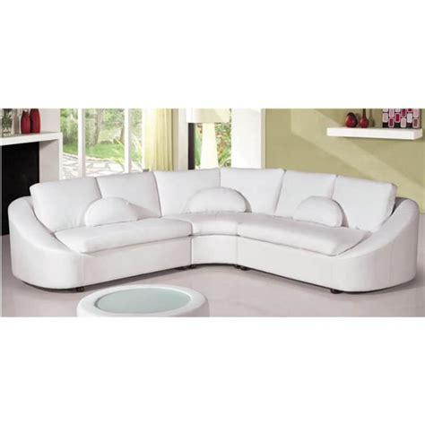canapé d angle arrondi but canapé d 39 angle design en cuir blanc arrondi achat