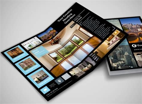 7 Best Images Of Fold Brochure Template 7 Best Images Of Half Fold Brochure Templates Real Estate