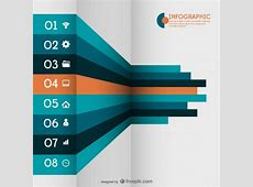 3d infographic with labels Vector Free Download