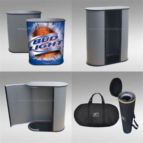 trade show round tables portable exhibition display counter promotion round table